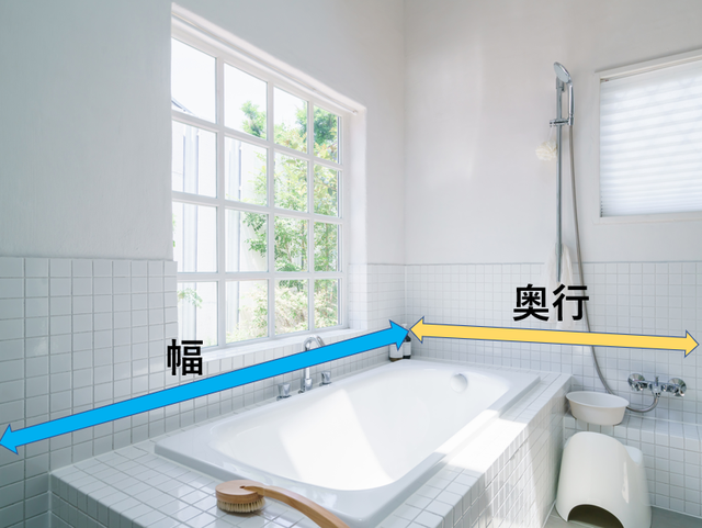 浴室サイズの測り方
