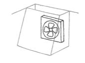 換気扇型フード付きプロペラファン